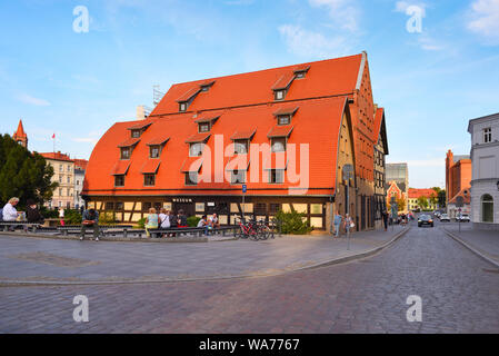 Bydgoszcz Poland - August 15, 2019: Granaries in Old Town of Bydgoszcz - Stock Photo
