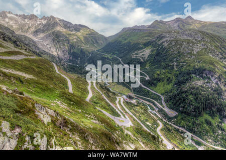 Grimselpass, Obergoms, Valais, Switzerland, Europe - Stock Photo