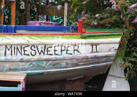 Minesweeper 11 wooden boat - Stock Photo