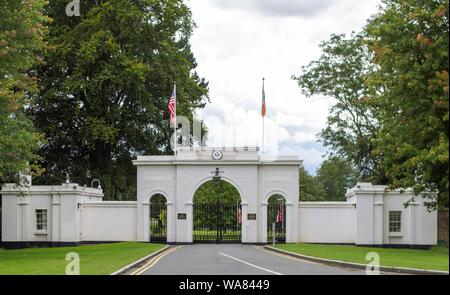 The American Ambassadors residence in the Phoenix Park, Dublin, Ireland. - Stock Photo