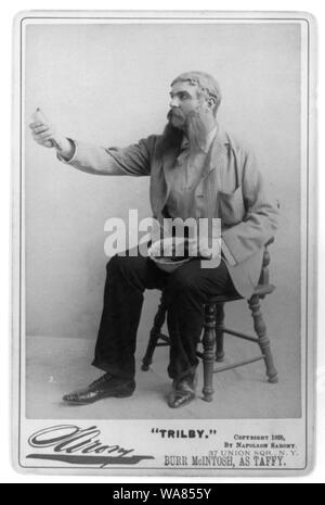Burr McIntosh, 1862-1942, full length, seated, facing left; as Taffy in Trilby - Stock Photo