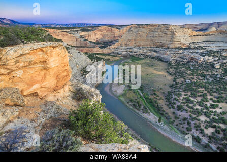 yampa river at wagon wheel point overlook in dinosaur national monument, colorado