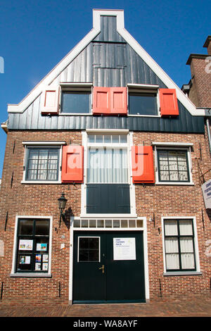 EDAM, NETHERLANDS - SEPTEMBER 1, 2018: View of traditional architecture from Edam Netherlands, - Stock Photo