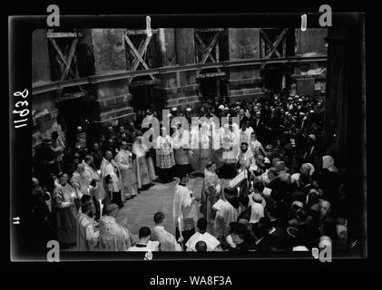Calendar of religious ceremonies in Jer. [i.e., Jerusalem] Easter period, 1941 - Stock Photo