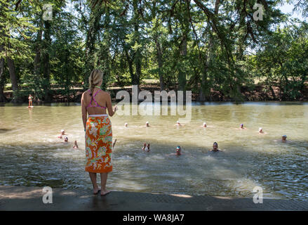 Campers enjoy some moments of fun on the Guadalupe River at