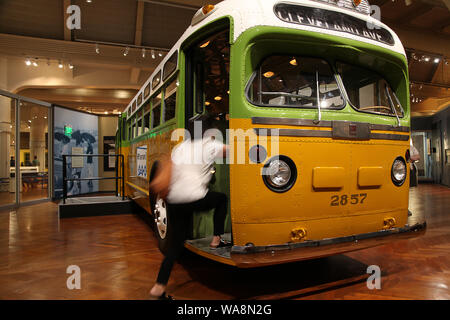 August 16, 2019, Detroit, Michigan, United States: Aug 16, 2019,  Dearborn, Michigan, United States;  The Henry Ford Museum includes exhibits rsuch as the bus that Rosa Parks was riding when she refused to give up her seat and started the civil rights movement with the Montgomery, Alabama bus boycott which is restored and on display at the museum in Dearborn, Michigan. (Credit Image: © Ralph Lauer/ZUMA Wire) - Stock Photo