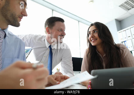 Important business discussion - Stock Photo