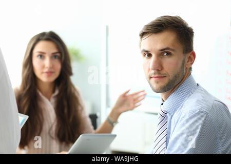 Smart businesspeople working - Stock Photo