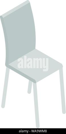 Kitchen metal chair icon, isometric style - Stock Photo
