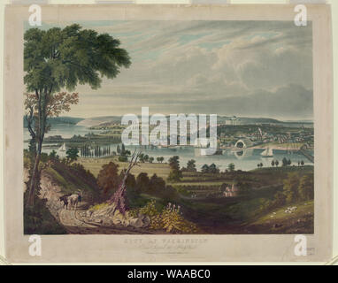 City of Washington from beyond the Navy Yard / painted by G. Cooke; engd. by W.J. Bennett. - Stock Photo