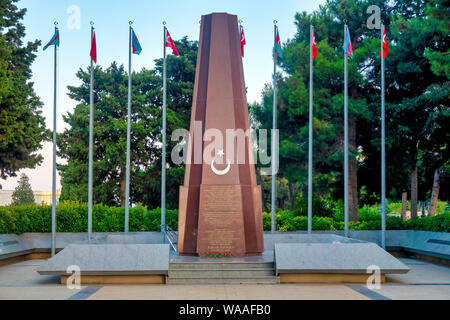 Baku Turkish Martyrs' Memorial, Baku, Azerbaijan - Stock Photo