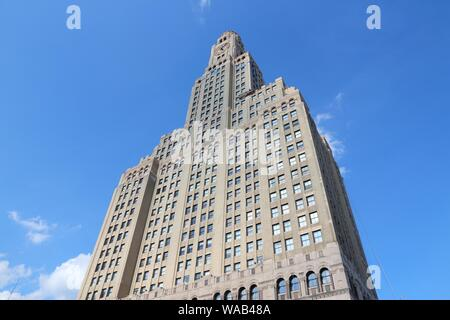 NEW YORK, USA - JULY 6, 2013: Williamsburgh Savings Bank Tower exterior view in New York. It was once the tallest building in Brooklyn (512 ft tall). - Stock Photo