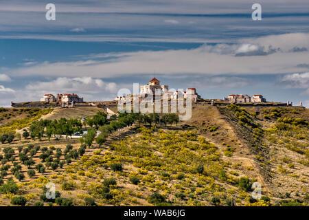 Forte de Nossa Senhora da Graça (Fort of Graca) aka Conde de Lippe Fort, in Elvas, Alto Alentejo, Portugal - Stock Photo