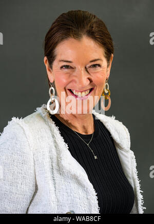 Edinburgh, Scotland, UK, 19 August 2019. Edinburgh International Book Festival. Pictured: Victoria Hislop, English author, talks about her new book Those Who Are Loved, set during the Nazi occupation of Greece - Stock Photo