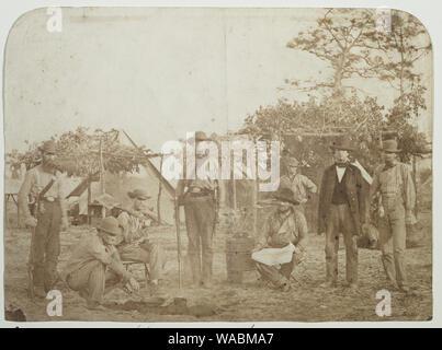 Confederate camp, Warrington Navy Yard, Pensacola, Florida - Stock Photo