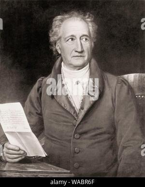 Johann Wolfgang von Goethe, 1749 - 1832, a German poet, Johann Wolfgang von Goethe, 1749 - 1832, ein deutscher Dichter - Stock Photo