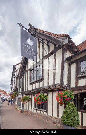 The picturesque medieval village of Lavenham, Suffolk, England, UK - Stock Photo