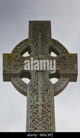 Celtic Cross Design located in Warter East Riding of Yorkshire - Stock Photo
