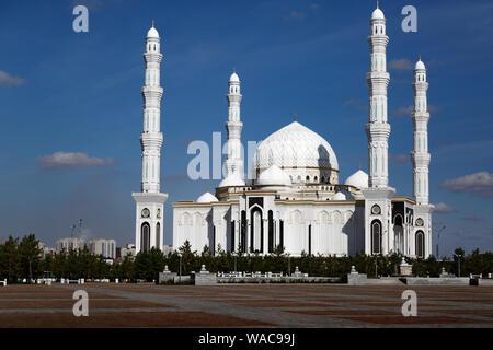 Hazrat Sultan Mosque In NurSultan Astana City - Stock Photo