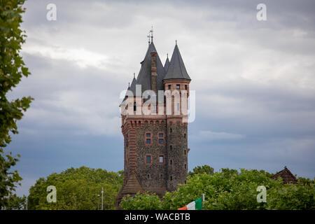 Nibelungenturm in Worms Rheinland-Pfalz, Germany - Stock Photo
