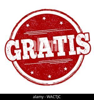 Gratis sign or stamp on white background, vector illustration - Stock Photo