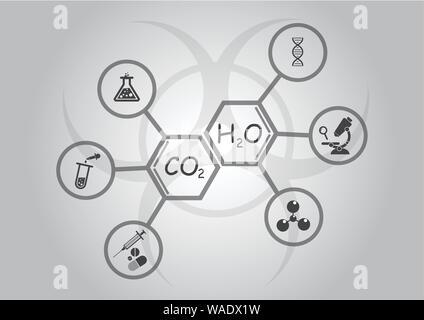 Medical laboratory infographics - Stock Photo