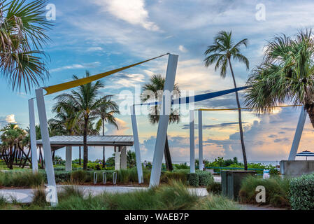 Sunrise at Lake Worth Beach on Palm Beach Island in Lake Worth, Florida. (USA) - Stock Photo