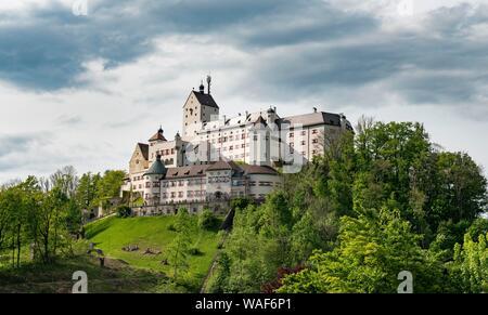 Hohenaschau Castle, Aschau im Chiemgau, Upper Bavaria, Bavaria, Germany - Stock Photo