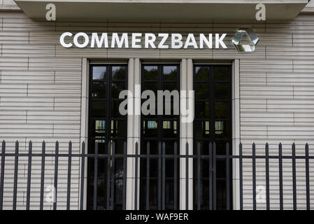 Berlin, Germany. 16th Aug, 2019. A Commerz bank seen in the City Centre, Berlin. Credit: Omar Marques/SOPA Images/ZUMA Wire/Alamy Live News - Stock Photo