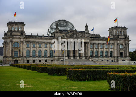 Berlin, Germany. 16th Aug, 2019. View of a Reichstag Building or the German Federal Parliament Building in Berlin. Credit: Omar Marques/SOPA Images/ZUMA Wire/Alamy Live News - Stock Photo