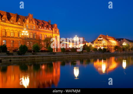 Bydgoszcz, Northern Poland, view from the Brda river post office buildings on the riverside phot. Jan Wlodarczyk/FORUM - Stock Photo
