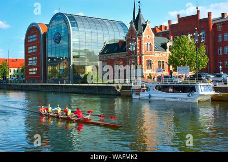 Bydgoszcz, Northern Poland, view from the Brda river bank buildings on the riverside phot. Jan Wlodarczyk/FORUM - Stock Photo