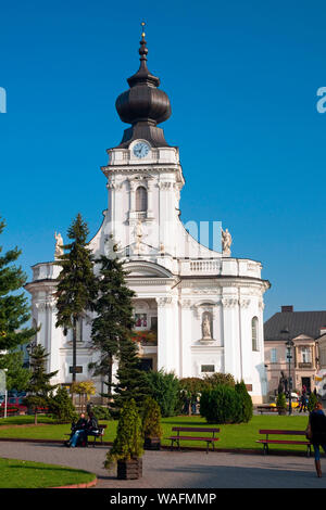 Wadowice, town in Souther Poland, 50km from Cracow, the birthplace of pope John Paul II. Virgin Mary's Offertory minor basilica Lesser Poland Province, 2002 phot. Radek Jaworski/FORUM - Stock Photo
