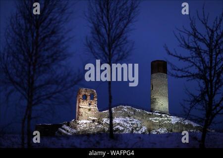 Olsztyn, biggest town of the Warmian-Masurian Province, North-Eastern Poland. Olsztyn castle ruins 2008 phot. Daniel Pach/FORUM - Stock Photo