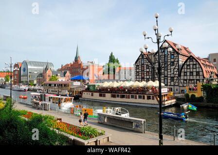 Bydgoszcz, Northern Poland, view from the Brda river water festival 'Ster na Bydgoszcz - 53N, 18E' 2008.05.31 phot. Maciej Rozwadowski/FORUM - Stock Photo