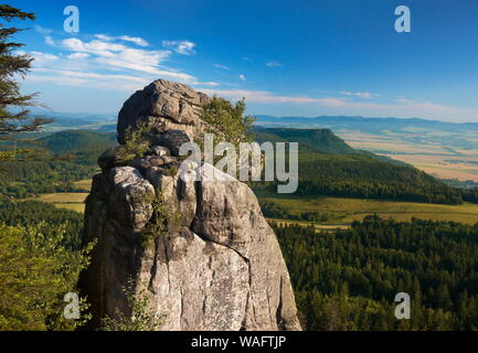 Table mountains ('Gory Stolowe'), part of the Sudetes range, the highest peak Szczeliniec Wielki south-western Poland, Lower Silesia province 2009 phot. Jan Wlodarczyk/FORUM - Stock Photo