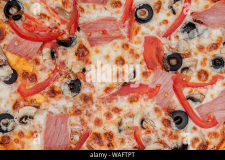 Background Pizza capricciosa. Visit my page. You will be able. - Stock Photo