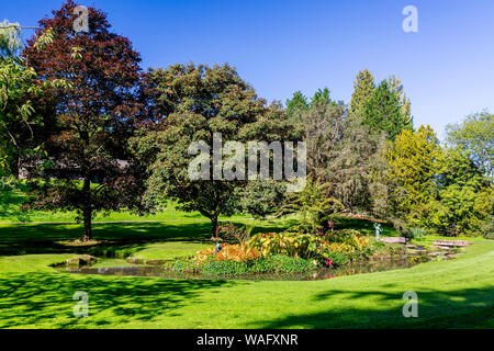 Some of the landscaped gardens at St Fagans National Museum of Welsh History, Cardiff, Wales, UK - Stock Photo