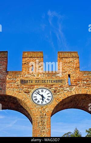 Stadtmauer, Stadttor, Porta XX Settembre, Montagnana Italien (Italia), 30076671 - Stock Photo