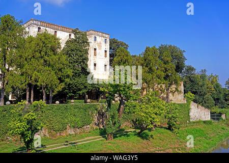 Schloss, Castello del Catajo, Park, Kanal, Canale Battaglia, Battaglia Terme Italien (Italia), 30076923 - Stock Photo