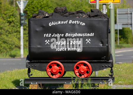 162, in 1856, in 2018, 12/21/2018, resignation, resignation take, resignation of the Bergbau, AG, label, outside view, field recording, mining, mining - Stock Photo