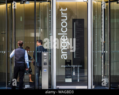 Prudential Plc Head Office. Angel Court in the City of London Financial District. - Stock Photo