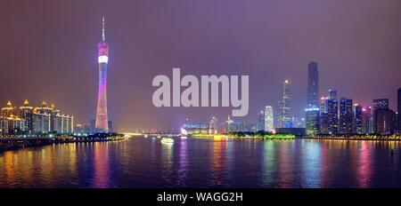 Guangzhou skyline. Guangzhou, China - Stock Photo
