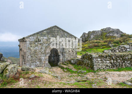 San Miguel Chapel in Monsanto, Portugal - Stock Photo