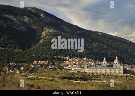 Monastery of El Escorial in San Lorenzo de El Escorial, Madrid. - Stock Photo