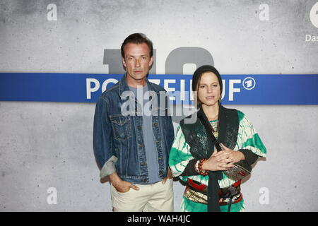 08/20/2019, Berlin, Germany. Maria Simon and Lucas Gregorowicz at the Preview of the new rbb police call 110: Heimatliebe on Kurfürstendamm in Berlin-Charlottenburg. - Stock Photo