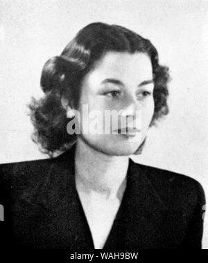 Violette Reine Elizabeth Szabo GC (1921 – 1945) French/British Special Operations Executive (SOE) agent during the Second World War and a posthumous recipient of the George Cross - Stock Photo