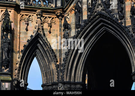 Everyday life in Edinburgh  a place of interest for the visitor  with many places to discover  and enjoy - Stock Photo