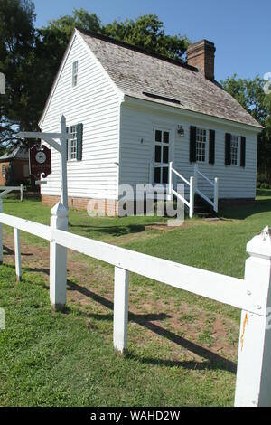 Historical structures in Colonial National Historical Park, in York County, Virginia. Museum on Main in Yorktown, VA. - Stock Photo
