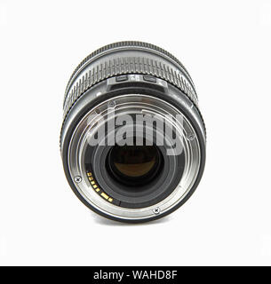 Camera photo lens isolated on white background. It is a wide-angle lens. T - Stock Photo